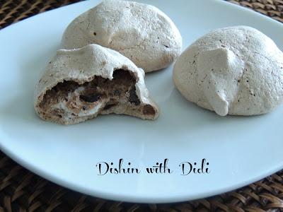 Mocha Chip Meringue Cookies - Sugar Free & Low Carb