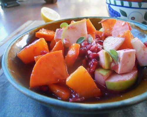 Pomegranate Persimmon Fruit Salad This salad is a tart and tangy party ...