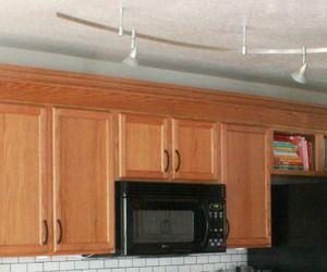 Pin by joanie zeier poole machine quilter on masculine - Builder grade oak kitchen cabinets ...