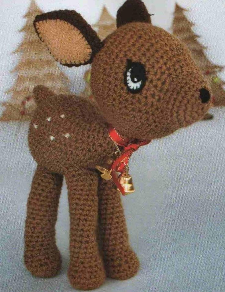 Free Crochet Deer Afghan Pattern : deer that has diagrams.. Crochet toys Pinterest