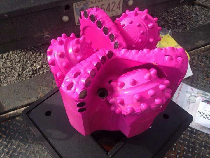 Nice! Pink drill bit for breast cancer awareness