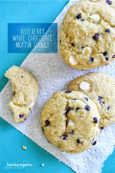 Blueberry White Chocolate Muffin Cookies...All you need is one Jiffy ...