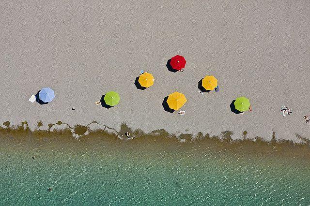 Parasols ~ photographer Klaus Leidorf  #photography #beach
