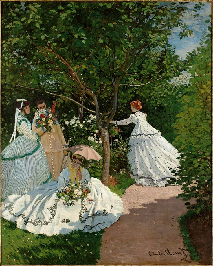 Claude Monet. Women in the Garden, 1866. Musée d'Orsay, Paris,