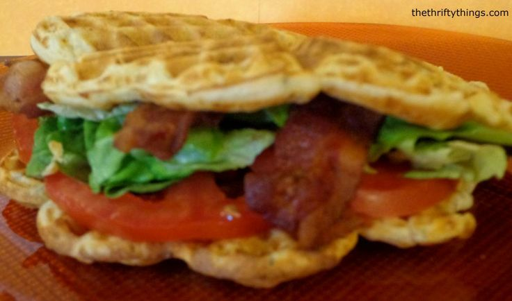 BLTs made using a Savory Cheese Waffle instead of bread. Great change ...