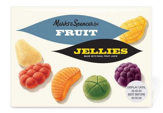 Marks & Spencer Fruit Jellies (vintage) | Packaging | Pinterest