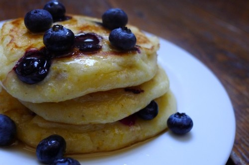 blueberry-buttermilk corn griddle cakes-this woman is a GENIUS in the ...