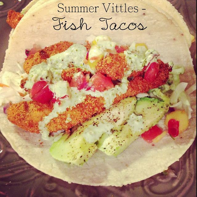Easy fish tacos recipe food healthy recipes pinterest for Simple fish taco recipe