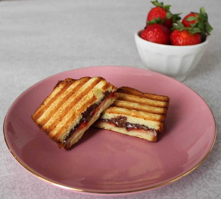 Nutella Strawberry Panini | Favorite Recipes | Pinterest