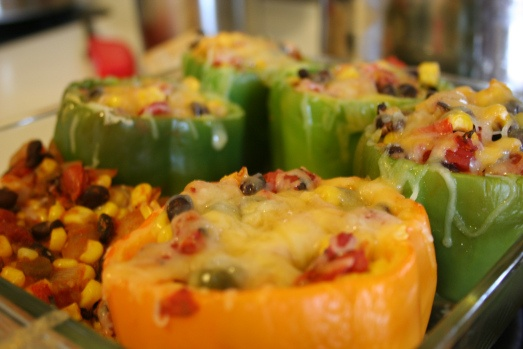 Vegetarian stuffed peppers | Vegetarian Food for Thought ...