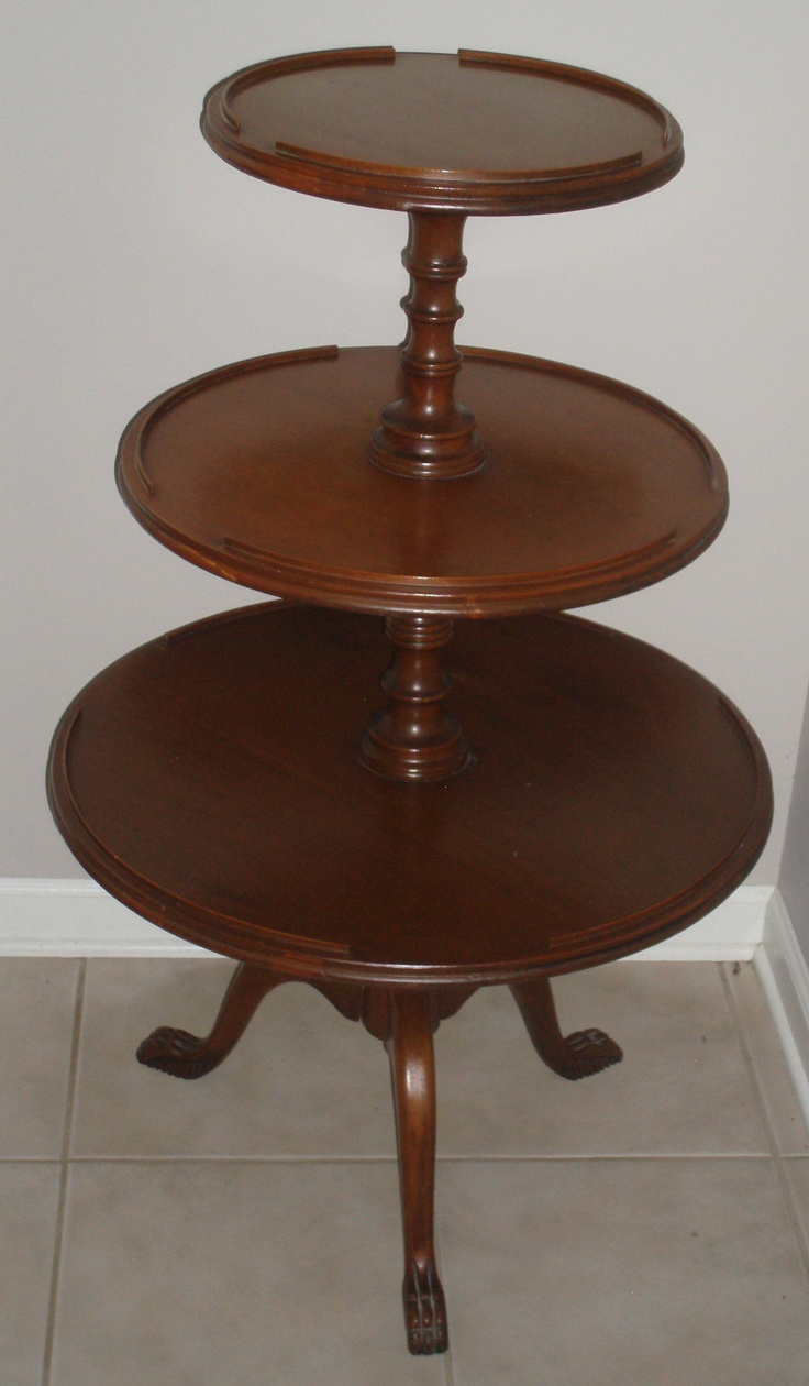 tinning table model antique mahogany three tiered table from days gone by
