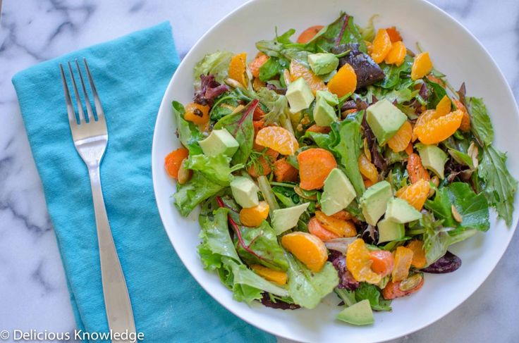 The BEST Salad! Healthy salad for the end of winter: roasted carrots ...
