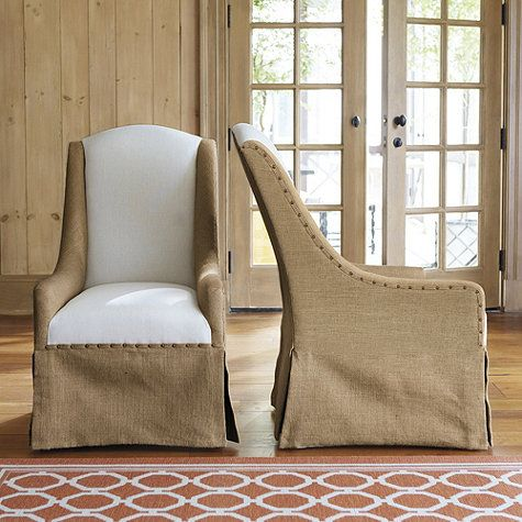 Cortina Chair With Burlap And Linen By Ballard Designs I