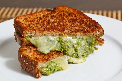 asparagus pesto grilled cheese sandwich | grill | Pinterest