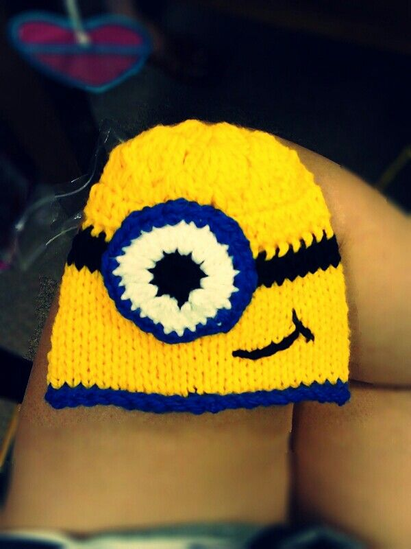 granny square cupcake minion beanie craft ideas bits of knits pin
