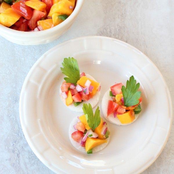 Jicama Chips with Mango Salsa | A Raw Life | Pinterest