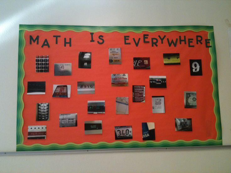Bulletin math is everywhere education pinterest