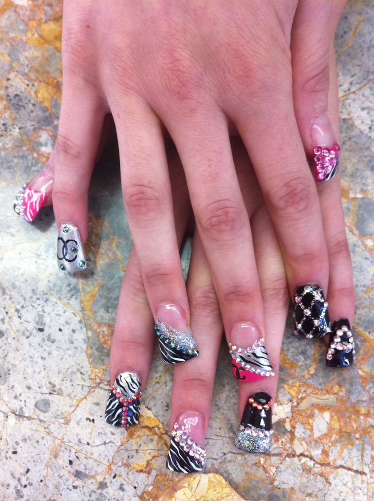 Wild fun nail designs | nails | Pinterest