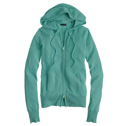 Collection cashmere zip-front hoodie | To wear | Pinterest