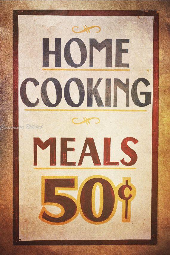 Kitchen Wall Art, Kitchen Wall Decor, Shabby Chic Home Decor, Vintage ...