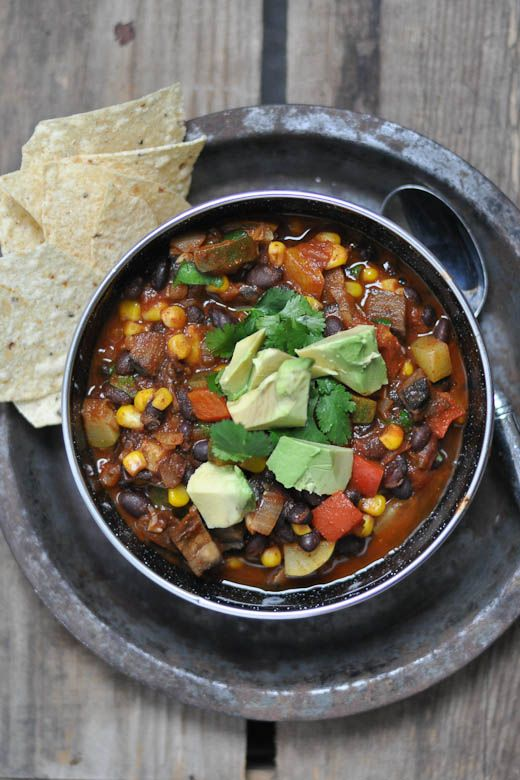 Vegetarian chili!- it's hearty, flavorful and good for you! I just ...