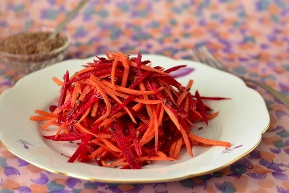 Grated Beet and Carrot salad   all Things Vegan   Pinterest