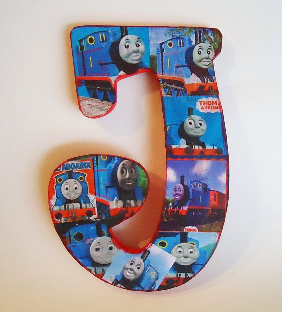 thomas the train inspired custom letter decor by thercb on etsy