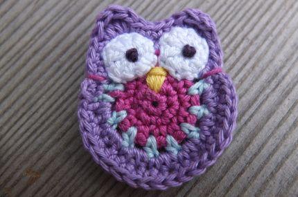 Crochet owl tutorial Patterns for motifs Pinterest