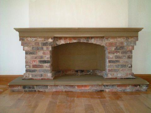 Brick Stone Fireplace Brick Stone Pinterest