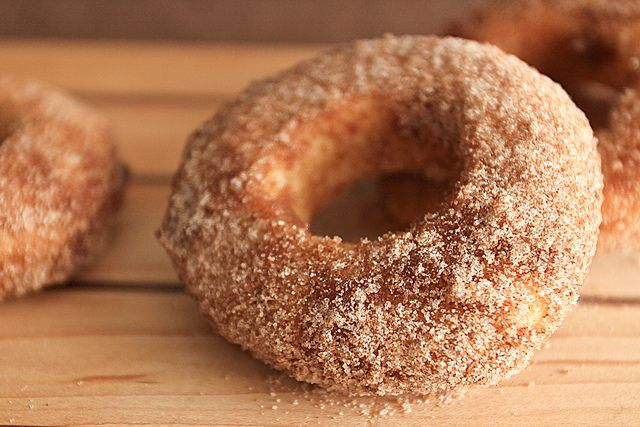 Baked cinnamon sugar doughnuts by the boastful baker, via Flickr