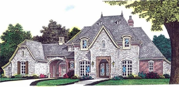 European French Country House Plan 92230