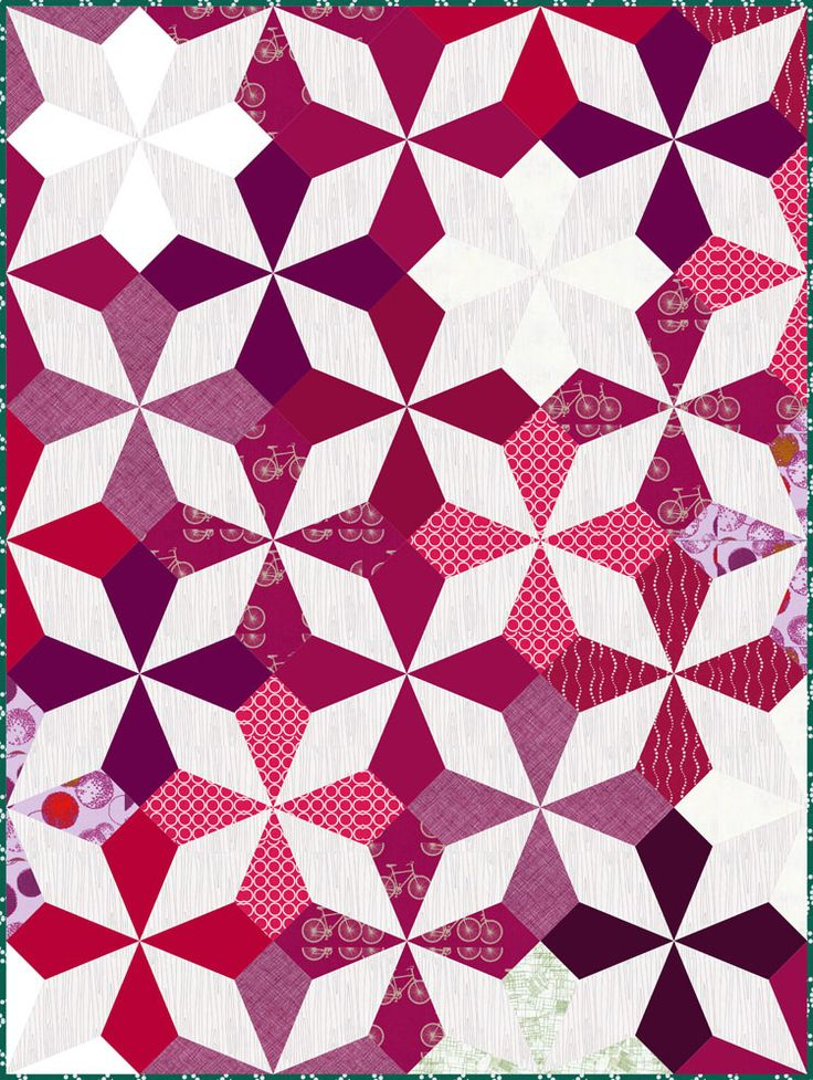 Market Bouquet Sample | Flickr - Photo Sharing!  Kaleidoscope blocks on point