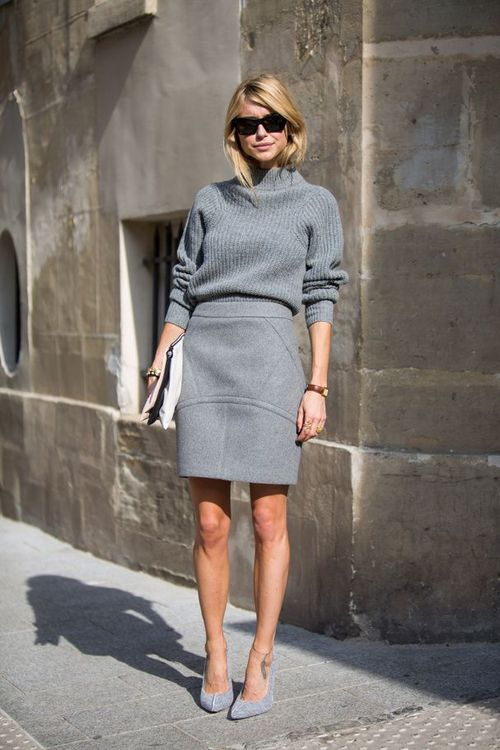 gray-on-gray monocromatic look for the office