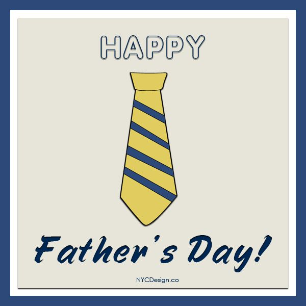 free father's day tie banner