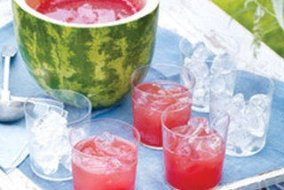 watermelon punch and bowl. how fun for a summer get together.