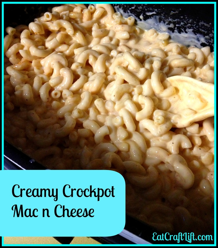 Creamy Crock Pot Macaroni and Cheese This is a super easy recipe all ...
