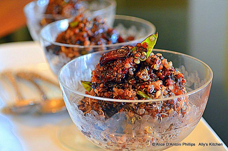 Cranberry Fest! Cranberry Fig Basil Quinoa