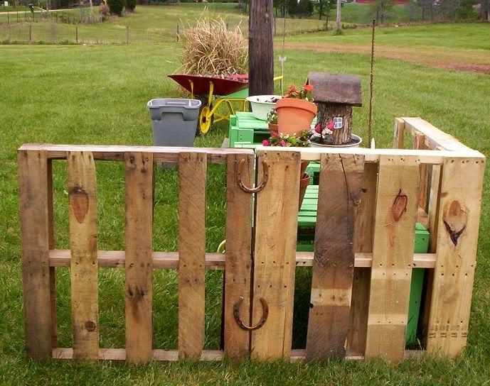 wood pallet picket fence reclaimed wood pinterest