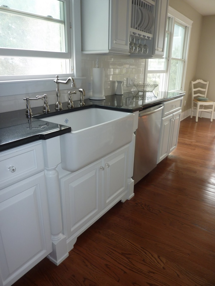 Apron Sink Cabinet : apron sink with farmhouse sink bexley - kitchen sink Pinterest