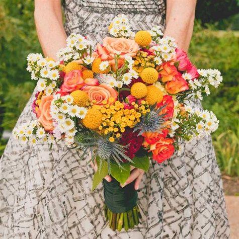 Multicolored Bridal Bouquet