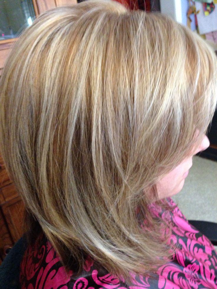 Pretty blonde mocha's foil hair