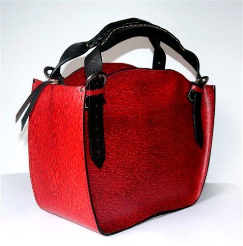 ... LEATHER BAG zippered oryginal handmade by ladybuq. $190.00, via Etsy