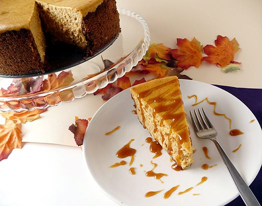 Pumpkin Cheesecake, by Brown Eyed Baker. I would substitute fresh or ...