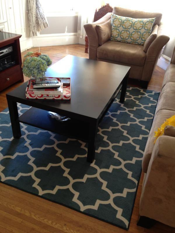 threshold fretwork area rug tan 7 39 x10 39