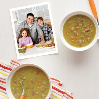 Split pea soup. I'm trying this in the crockpot with the ham bone I ...