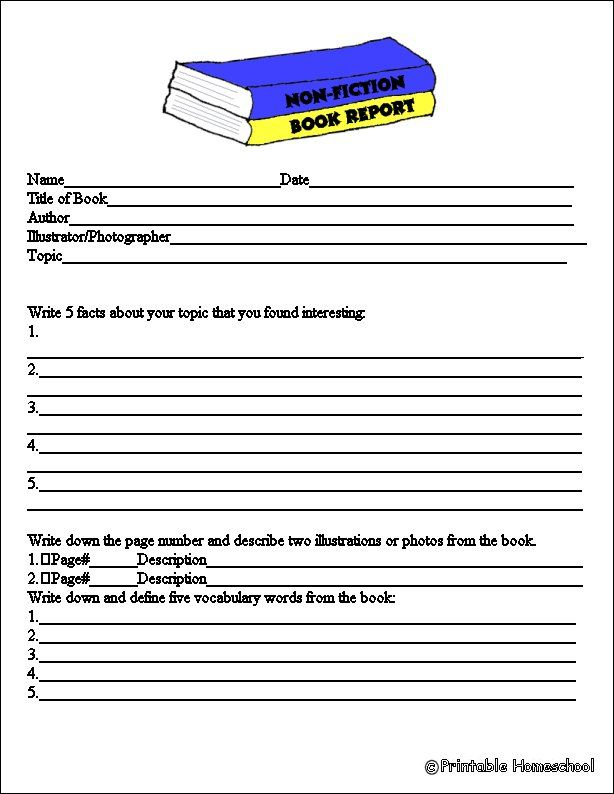book report english