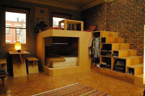 Neat Reverse Loft Bed Sitting And Sleeping Pinterest