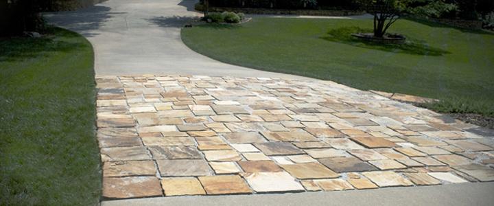 Stone Tile Driveway For The Garden Pinterest
