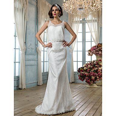 trompette / sirène boule robe de mariée en dentelle – EUR € 164 ...