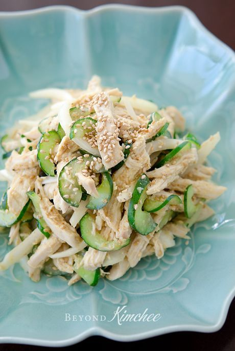 Korean Sesame Chicken Salad @ chicken | cucumber | white onion ...